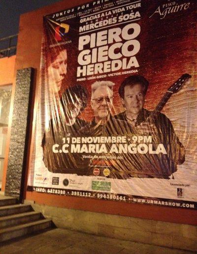 Tour Homenaje a Mercedes Sosa (Lima, Perú) – 2015